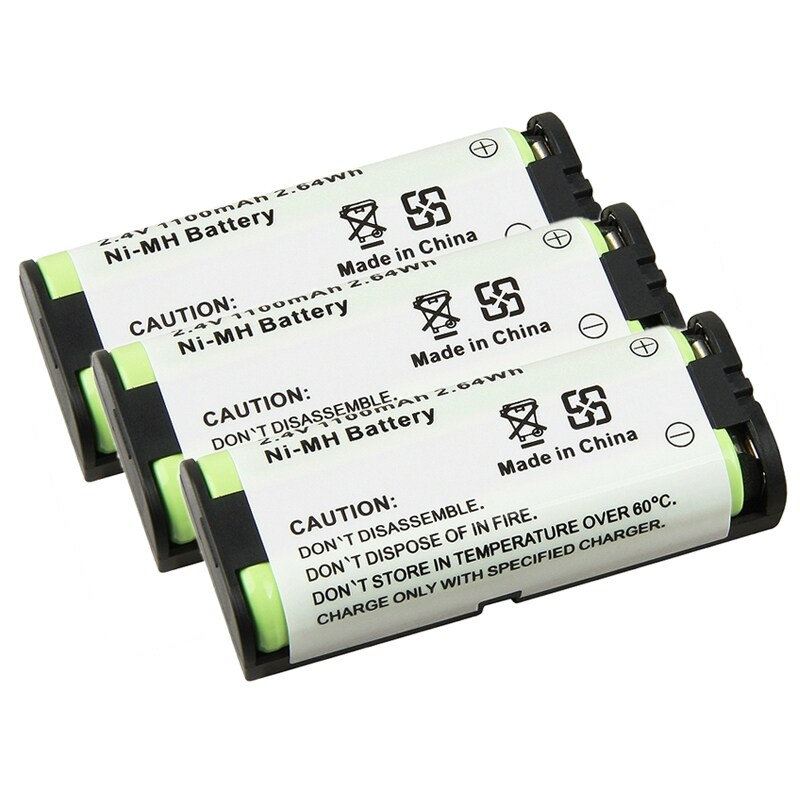INSTEN Compatible Ni-MH Battery for Panasonic HHR-P105 Phone (Pack of 3)
