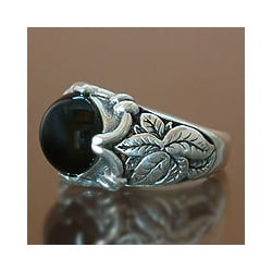 Sterling Silver 'Summer' Onyx Ring (Indonesia)