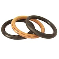 Handmade Set of 3 Seesham Wood 'Exotic Delhi' Bangle Bracelets (India)