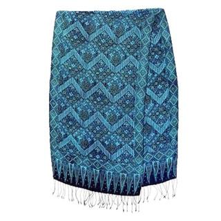 Silk 'Javanese Kingdom' Batik Shawl (Indonesia)