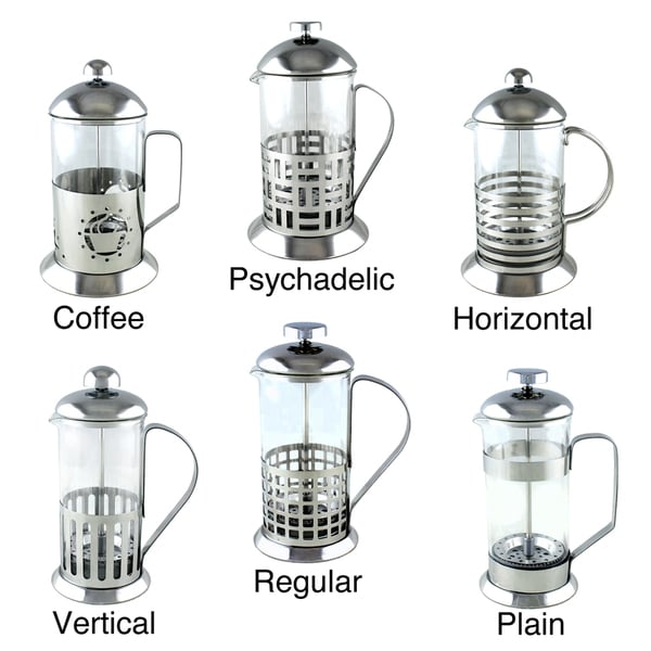 Ovente 27 Oz.  French Press Coffee Maker (Set of 2)