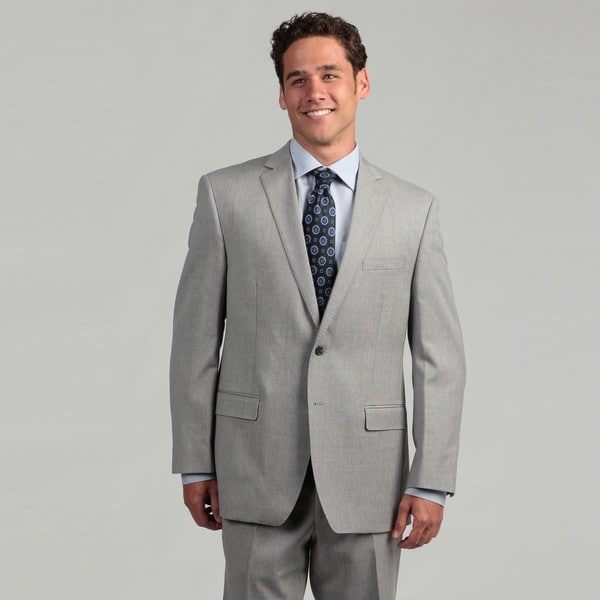 Calvin Klein Men's Light Grey Wool Suit - Free Shipping Today ...
