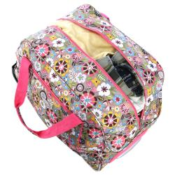 Olympia 21-Inch Tulip Fashion Rolling Carry OnUpright  Duffel Bag - Thumbnail 1