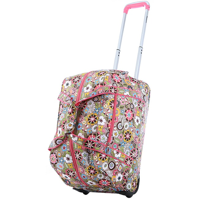 Olympia 21-Inch Tulip Fashion Rolling Carry OnUpright  Duffel Bag - Thumbnail 0
