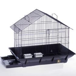 Prevue Pet Products Black Clean Life House Bird Cage - Thumbnail 1