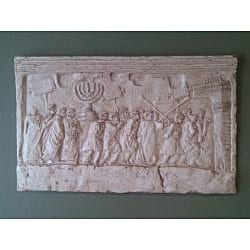Finished Bonded Marble Arch Of Titus Wall Relief Replica - Thumbnail 1
