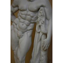 Traditional White-bonded Hercules Farnese Bonded Marble-cast Statue - Thumbnail 2
