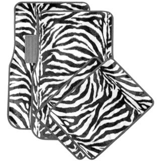 Oxgord Safari Zebra Carpet Car Floor Mats (Set of 4)
