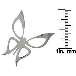 Carolina Glamour Collection Stainless Steel Butterfly Invisible Bail Necklace