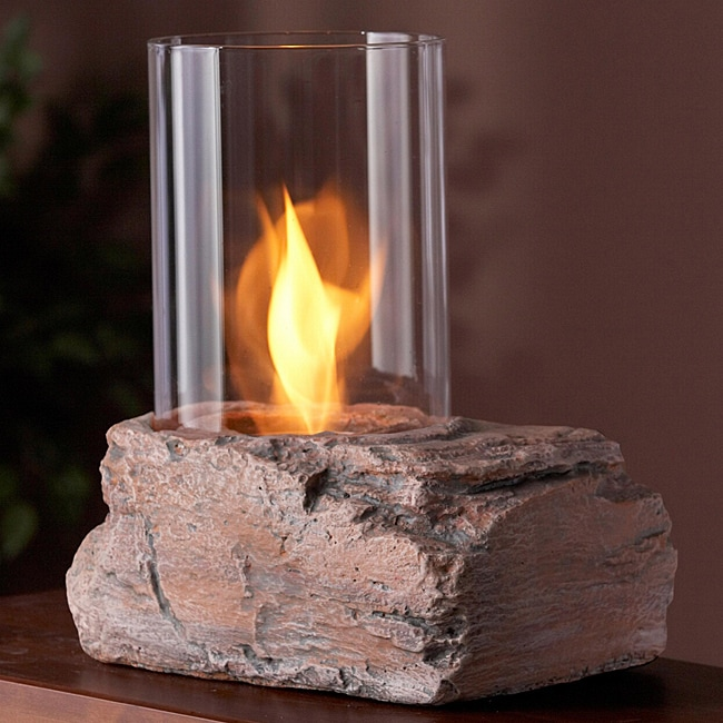 Real Flame Red Rock Personal Fireplace - Thumbnail 0