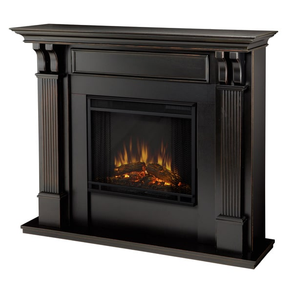 Real Flame Ashley Blackwash 48.03 in. L x 13.78 W x 41.25 in. H Electric Fireplace