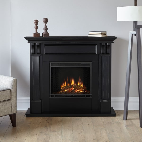 Shop Ashley Blackwash Electric Fireplace By Real Flame Free
