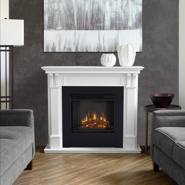 Outstanding Ashley White Electric Fireplace By Real Flame Interior Design Ideas Tzicisoteloinfo