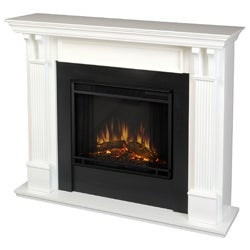 Real Flame Ashley White 48.03 in. L x 13.78 in. W x 41.25 in. H Electric Fireplace