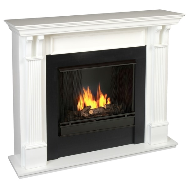 Ashley Gel Fuel Fireplace White by Real Flame
