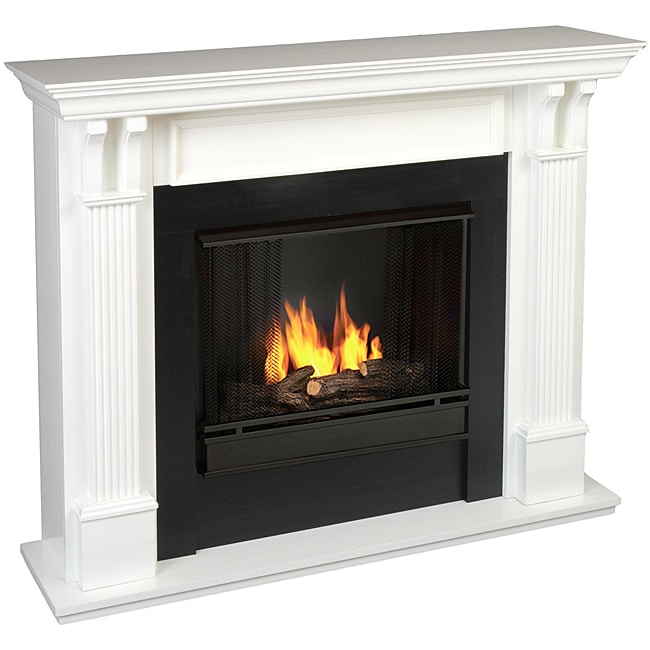 Real Flame Ashley White Gel Fuel 48.03-inch Fireplace