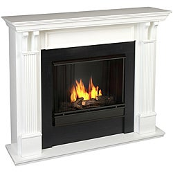 Real Flame Ashley White 48.03 in. L x 13.78 W x 41.25 in. H Gel Fuel Fireplace