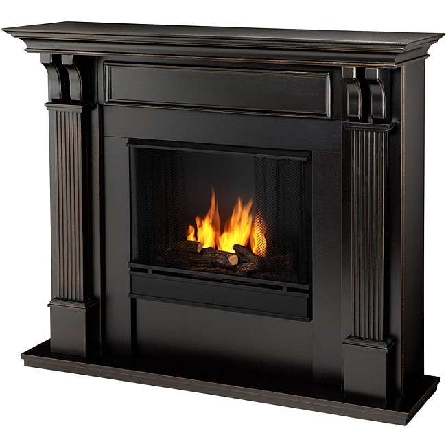 Real Flame Blackwash Ashley 48.03 in. L x 13.78 W x 41.25 in. H Gel Fireplace