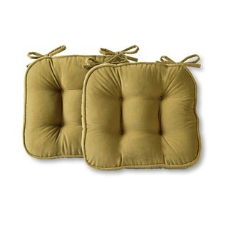 Greendale Home Fashions Moss Hyatt Microfiber Chair Pads (Set of 2)