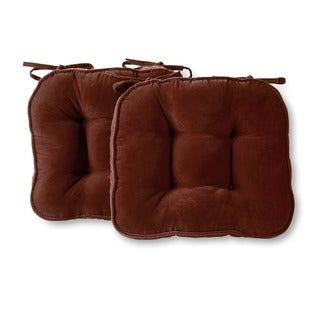 Nylon Microfiber Solid Burgundy Chair Pads (Set of 2)