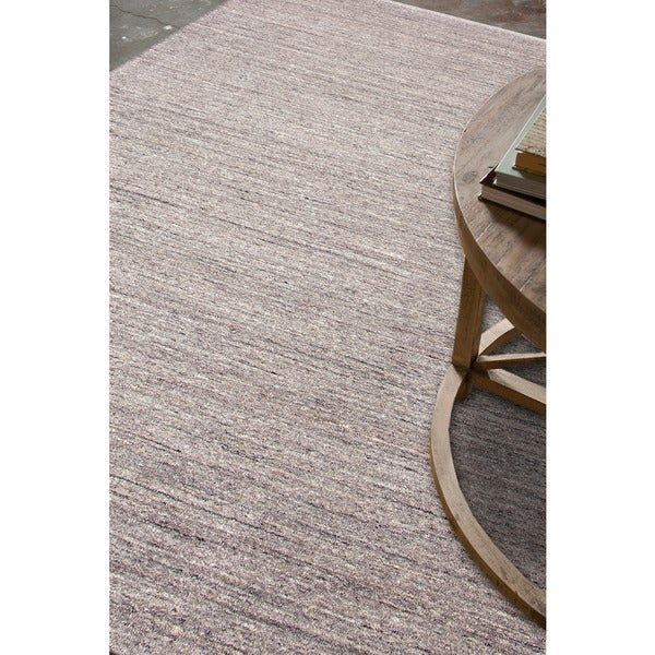Hand Loomed Grey Wool Rug 8 X 10 Free Shipping Today