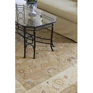 Hand-Knotted Floral White Area Rug (6' X 9')