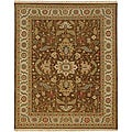 Hand-Knotted Floral Brown Area Rug (6' X 9')