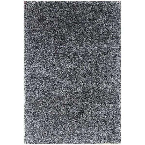 Hand-woven Grey Wool-blend Shag Rug (2' x 3')
