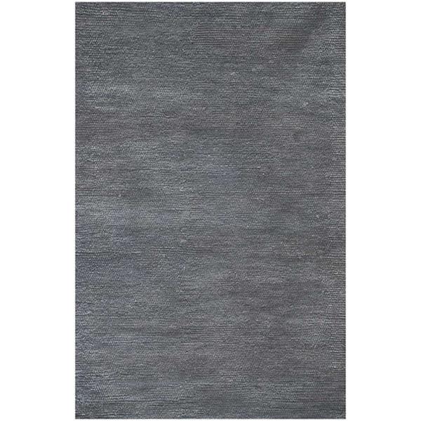 Hand-woven Grey Wool Area Rug (8' x 11')