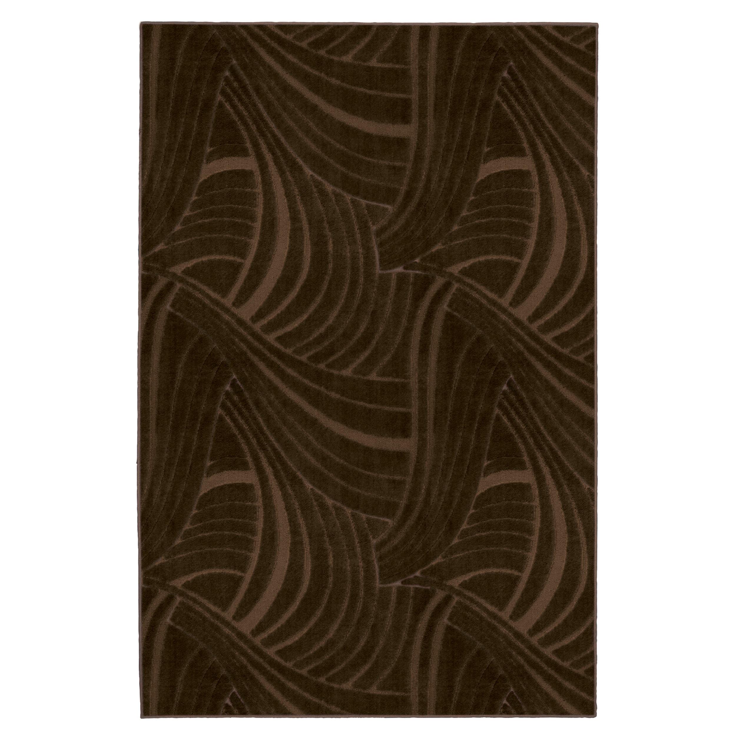 Brush Strokes Mink Brown Rug (5' x 8')