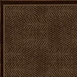 Tiger Patch Mink Brown Rug (5' x 8')