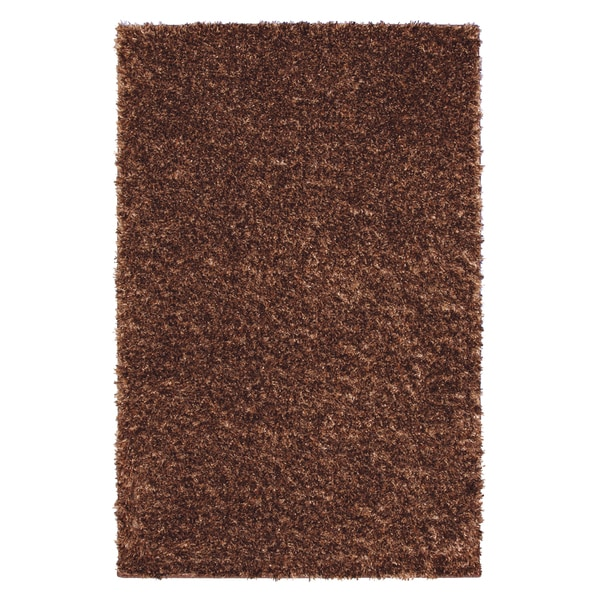 Fox Fire Copper Brown Shag Rug (8' x 10')