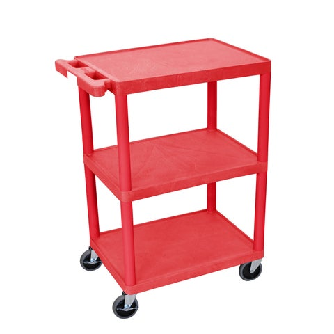 Luxor Flat 3-shelf Heavy Duty Utility Cart