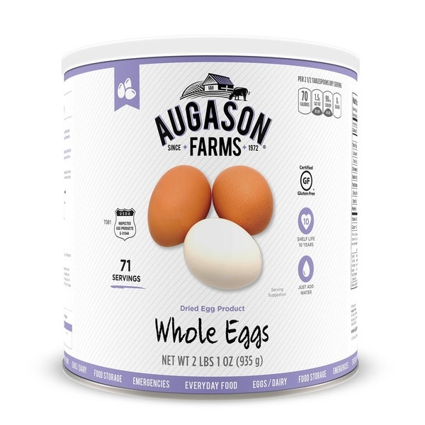 Augason Farms Dried Whole Egg 33 oz No. 10 Can
