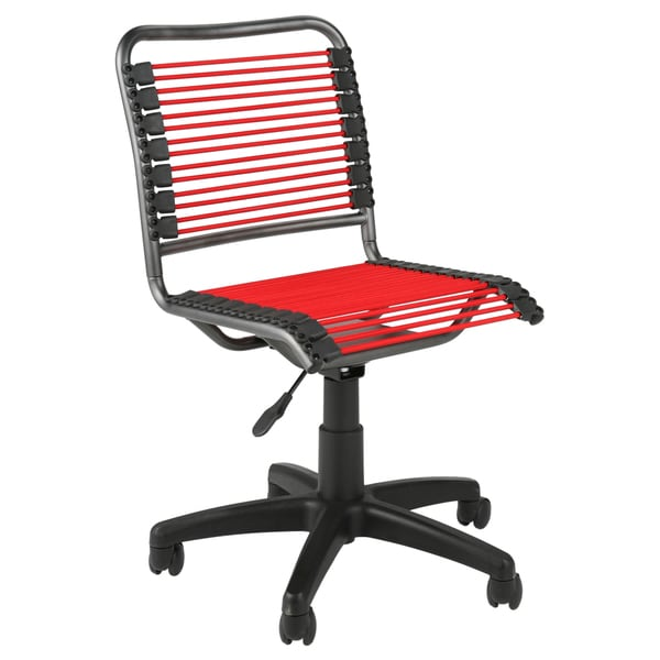 bungie low back red/ graphite black office chair - free shipping