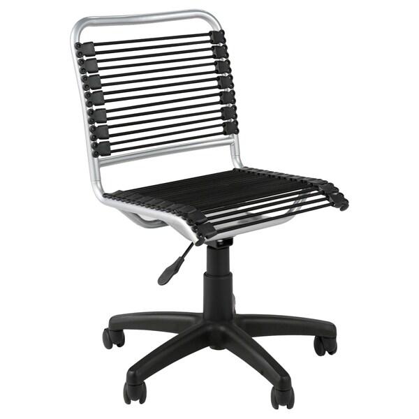 Bungie Low Back Black/ Aluminum Office Chair