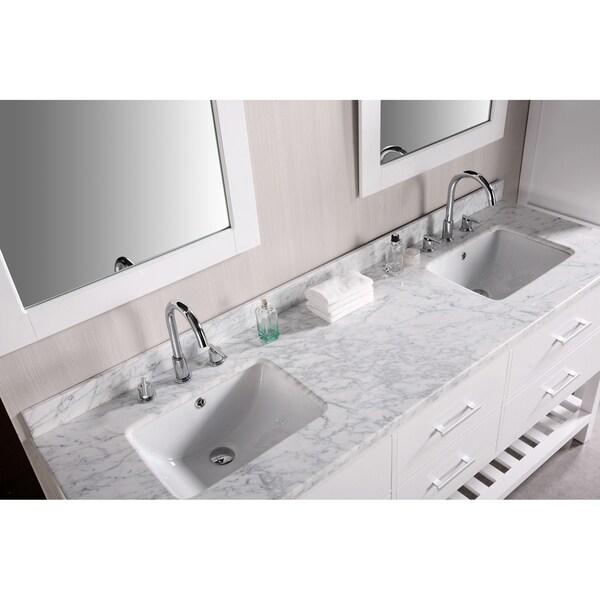 Design Element London Inch Double Sink Bathroom Vanity Set - Bathroom vanities 72 inch double sink for bathroom decor ideas