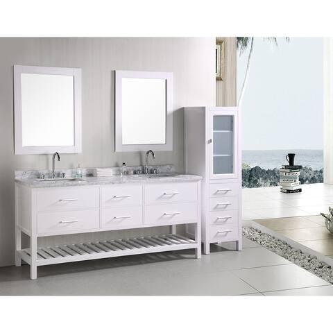 Design Element London 72 Inch Double Sink Bathroom Vanity Set