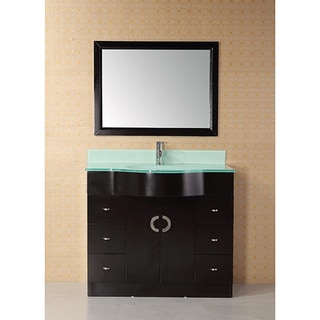 Shop Design Element Aria 40 Inch Modern Single Bathroom Vanity Free Shipping Today Overstock