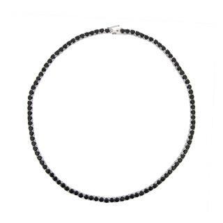 Glitzy Rocks Sterling Silver Black Spinel Necklace (26 1/2ct TGW)|https://ak1.ostkcdn.com/images/products/6519323/6519323/Glitzy-Rocks-Sterling-Silver-Black-Spinel-Necklace-26-1-2ct-TGW-P14105558.jpg?impolicy=medium