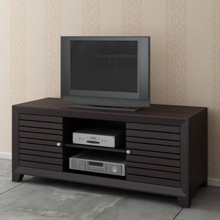 Espresso Plasma TV LCD Stand/ Media Console