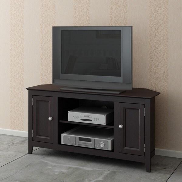 Espresso Wood 2-Door TV LCD Stand/ Media Console