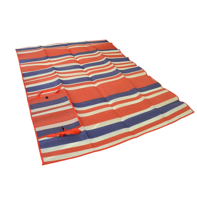 Portable Red Wide Stripe Travel Mat