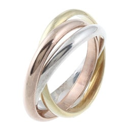 La Preciosa Tri-color Sterling Silver Interlocking Ring - Thumbnail 1