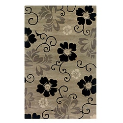 Hand-tufted Hesiod Pewter Wool Rug - 5' x 8' - Thumbnail 0