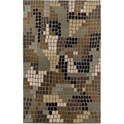 Hand-Tufted Hesiod Brown Wool-Blend Rug (8' x 10')