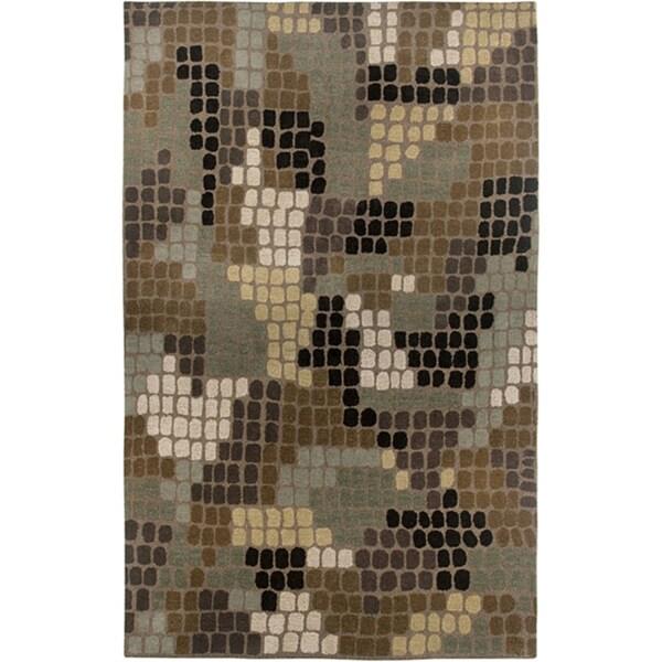 Hand-Tufted Hesiod Brown Wool-Blend Rug - 8' x 10'