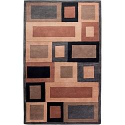 Hand-tufted Hesiod Grey Wool Rug - 5' x 8' - Thumbnail 0