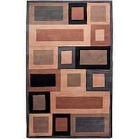 Hand-tufted Hesiod Grey Wool Rug - 5' x 8'