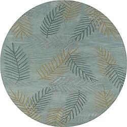 Hand-tufted Hesiod Light Blue Rug (8' x 8' Round)